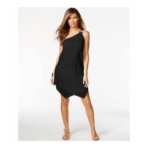 Michael Michael Kors One Shoulder Gauze Dress